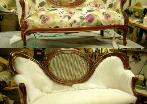upholtery of the love seat