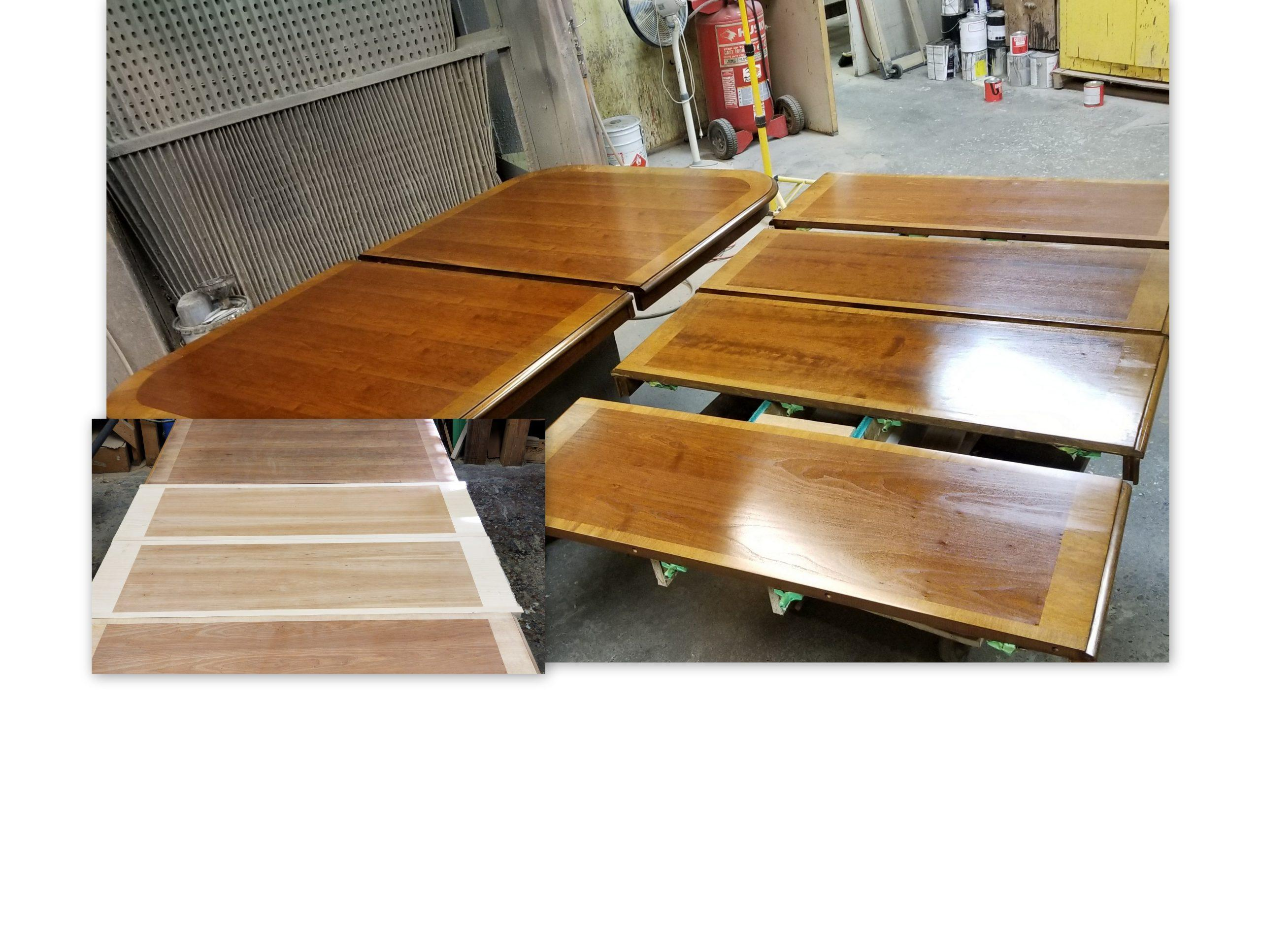 CHERRY TABLE MAKING 2 MATCHING LEAFS